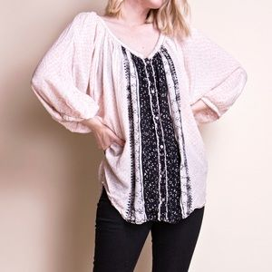 Free People dolman bohemian tunic blouse